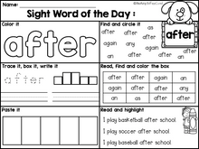 Load image into Gallery viewer, Sight Word of the Day Reading and Writing Fluency (The Bundle)