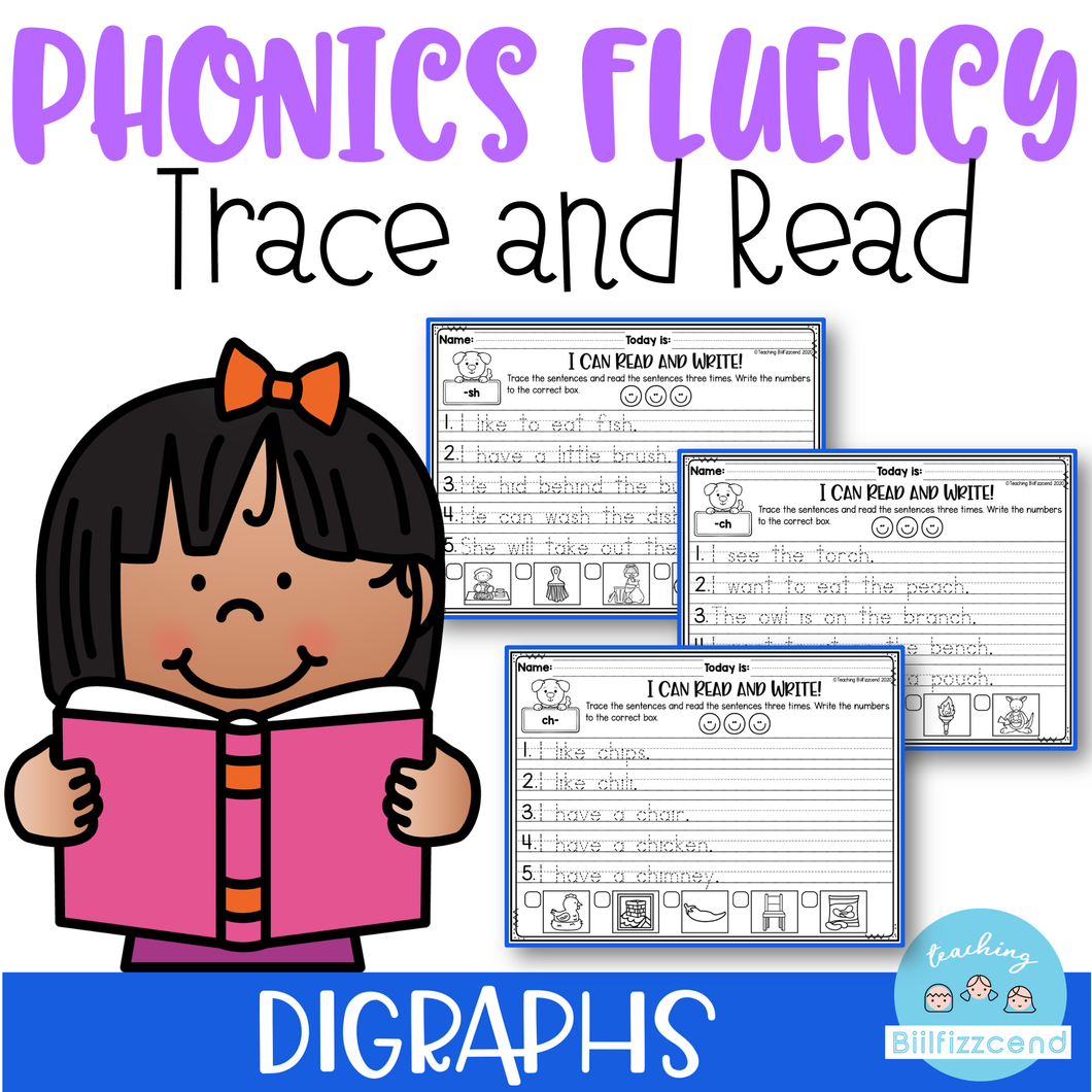 Phonics Trace and Read (Digraphs)