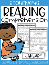 Load image into Gallery viewer, January Sequencing Reading Comprehension