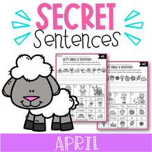 Load image into Gallery viewer, April Secret Sentences