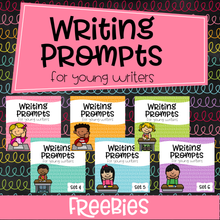 Load image into Gallery viewer, Writing Prompts For Young Writers Freebies