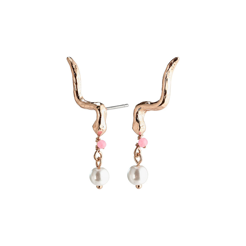 Poesy Rose Gold Plated Studs