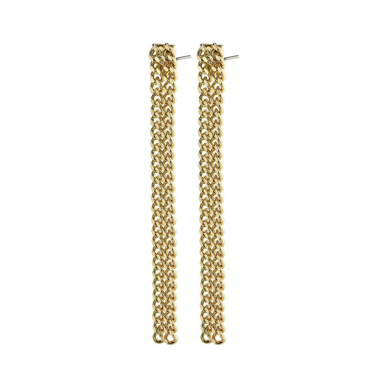 Gudrun Gold Plated Earrings