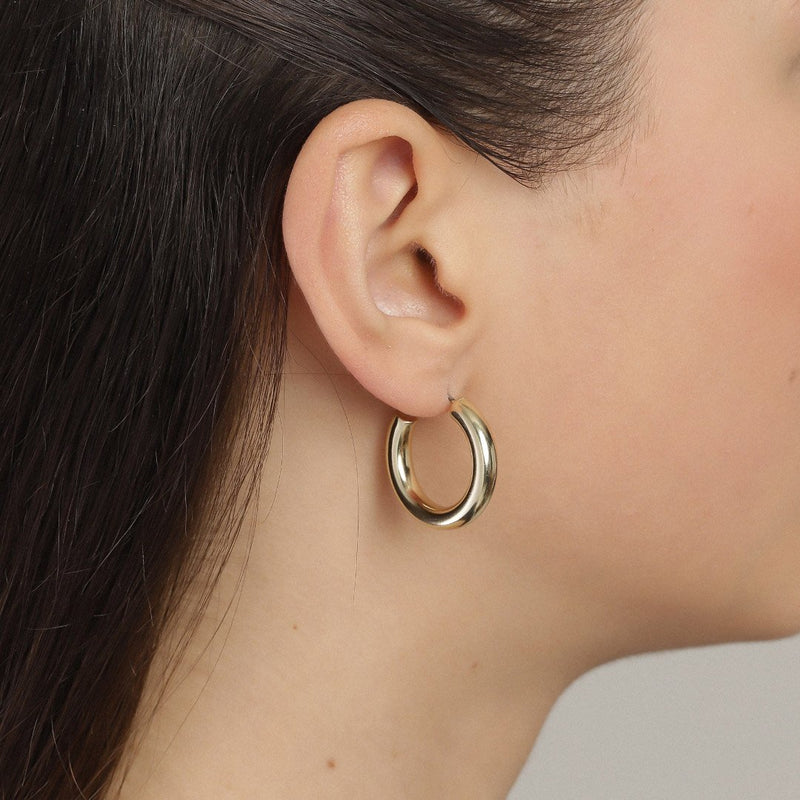 Maddie Small Gold Plated Hoops