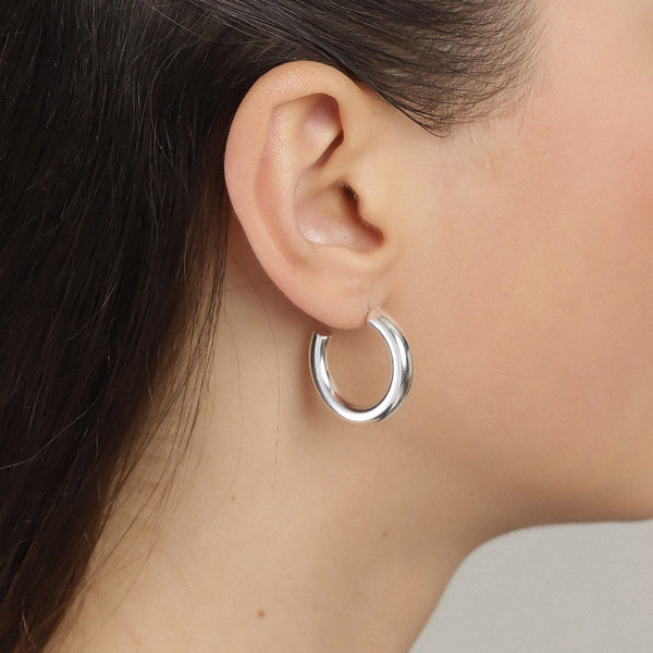 Maddie Small Silver Plated Hoops