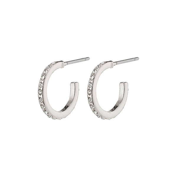 Roberta Small Silver Plated Hoops