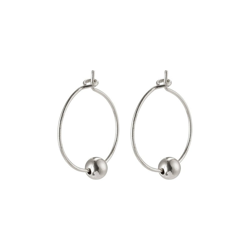 Meg Silver Plated Hoops