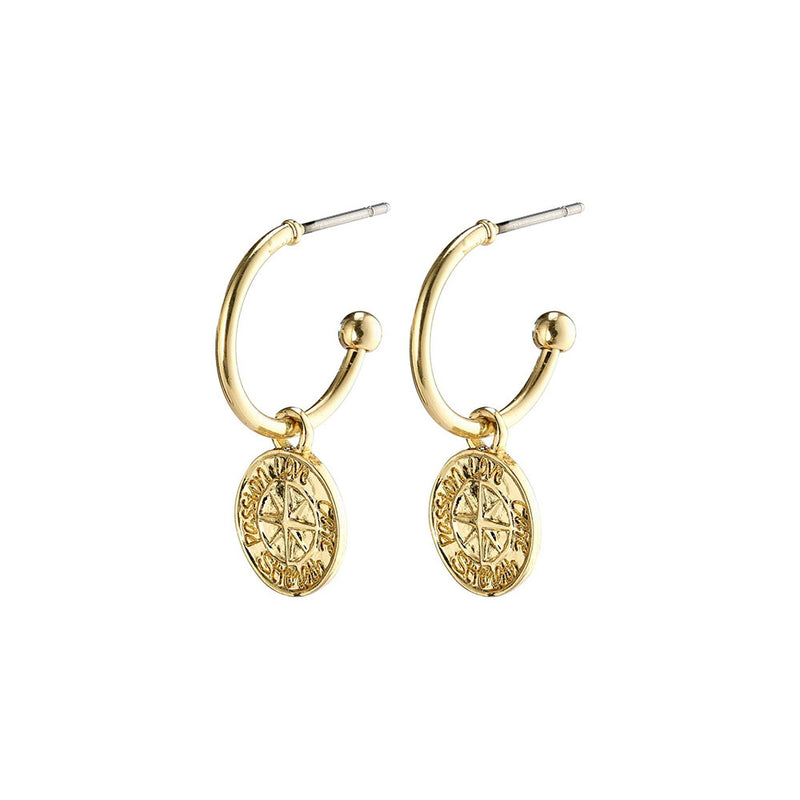 Gerda Gold Plated Hoops