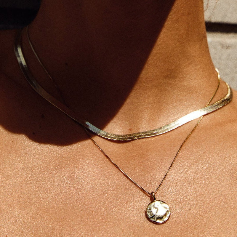 Noreen Gold Plated Snake Chain