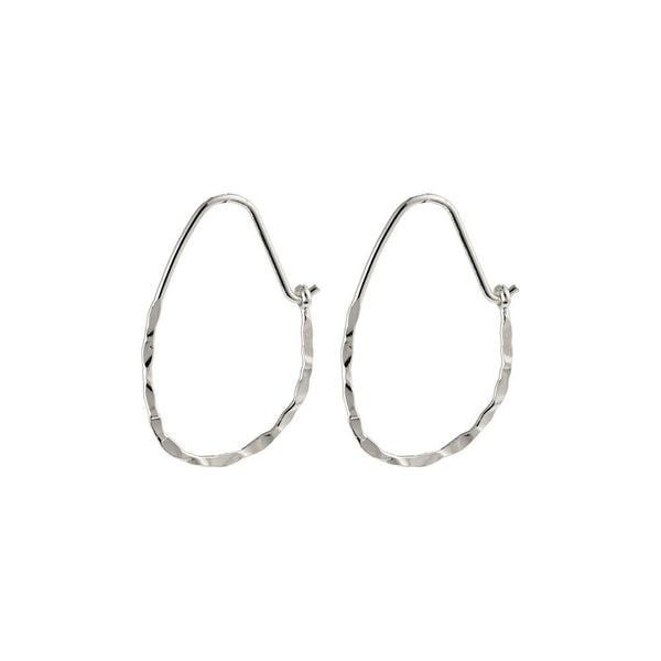 Olena Silver Plated Hoops