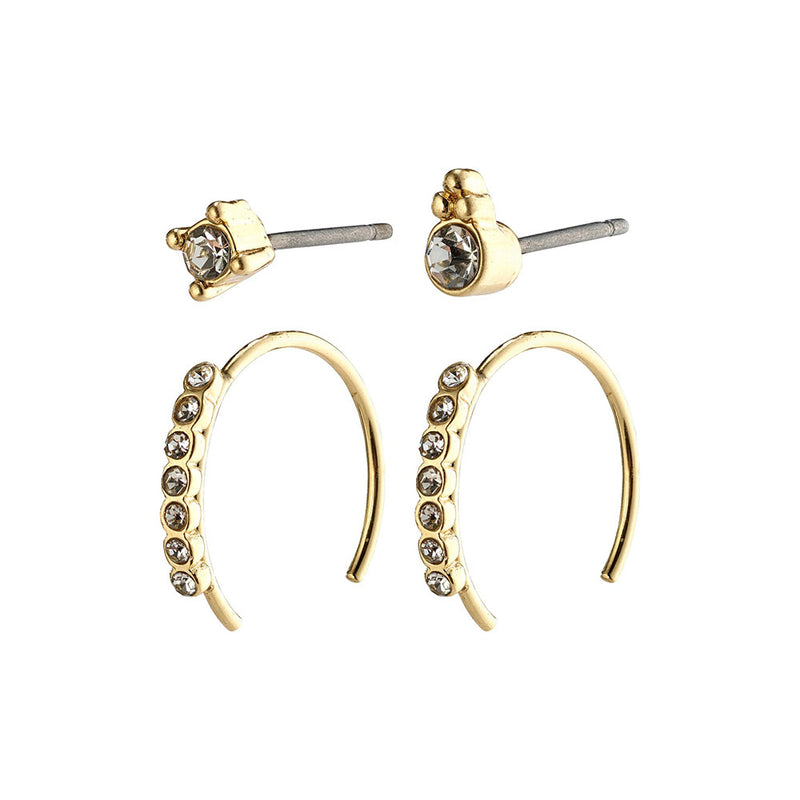 Kali Gold Plated Crystal Earring Set