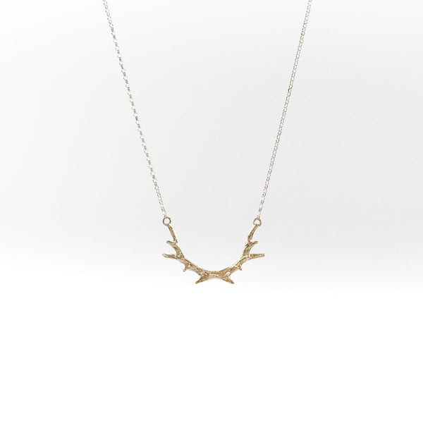 Tiny Antler Gold Vermeil Necklace
