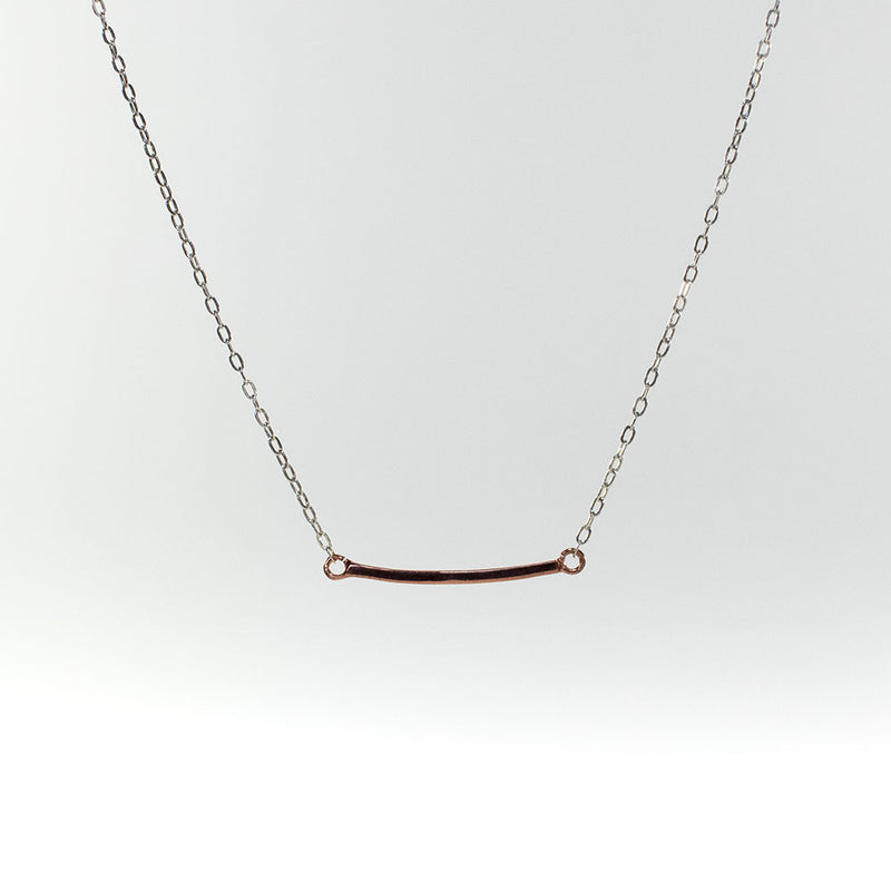 Mini Curve Rose Gold Vermeil Necklace