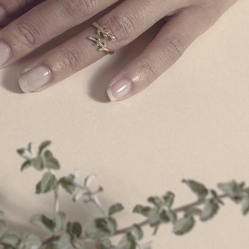 Eden Brass Midi Ring