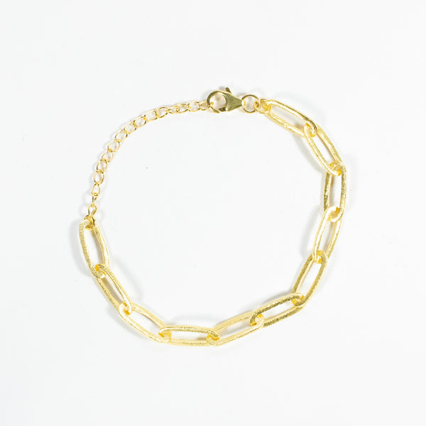 Paperclip Gold Plated Necklace
