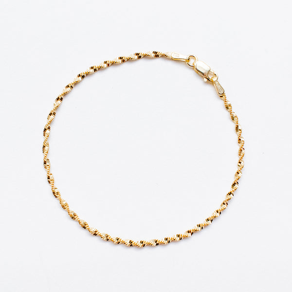 Twisted Rope Gold Plated Bracelet