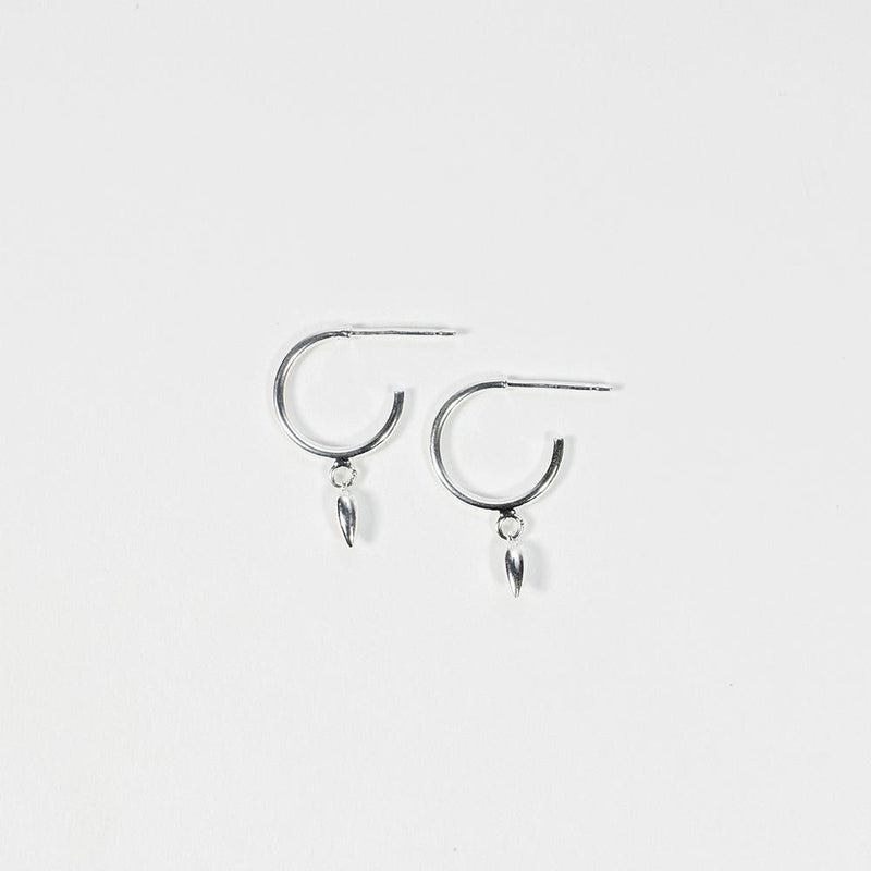 Pods Silver Earrings