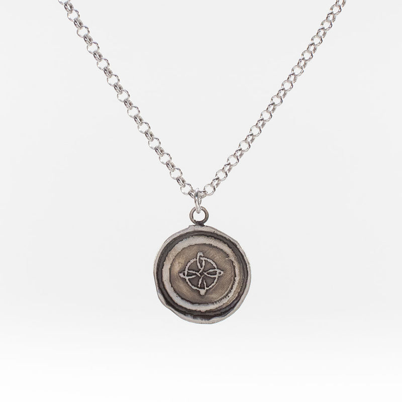 Compass Rose Journey and Return Necklace