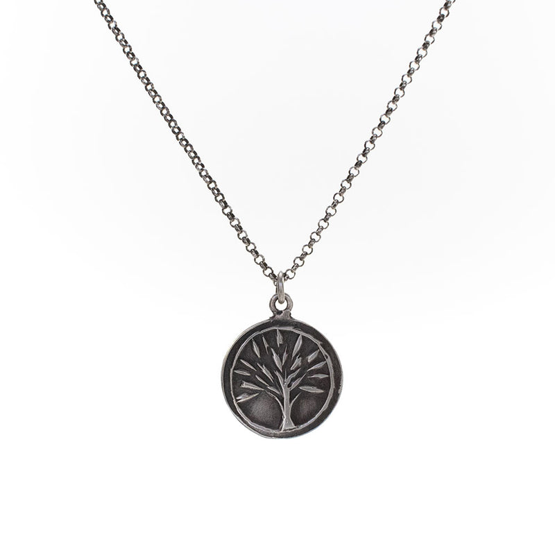 Tree Embossed Necklace