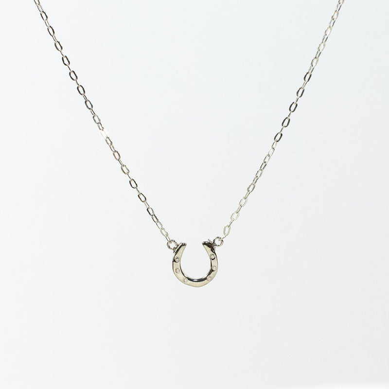 Mini Silver Horseshoe Necklace