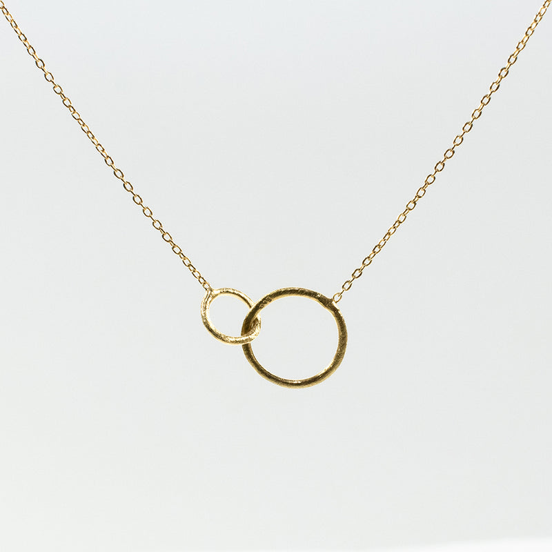 Circle Loop Gold Plated Necklace