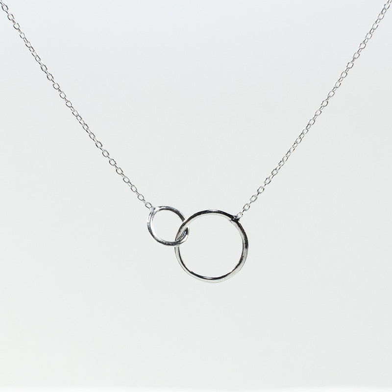 Circle Loop Silver Necklace