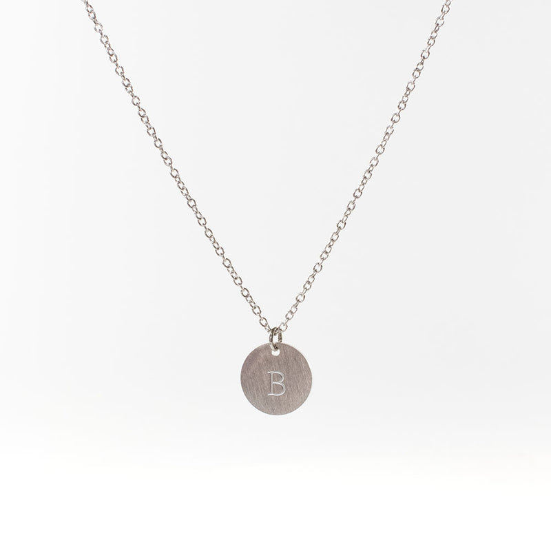 Initial Silver Plated Necklace (Uppercase)