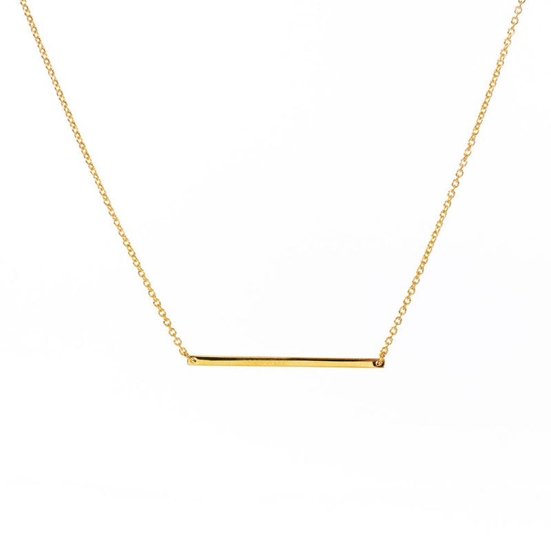 Bar Gold Vermeil Necklace