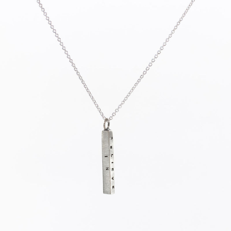 Small Letter Pressed Bar Necklace
