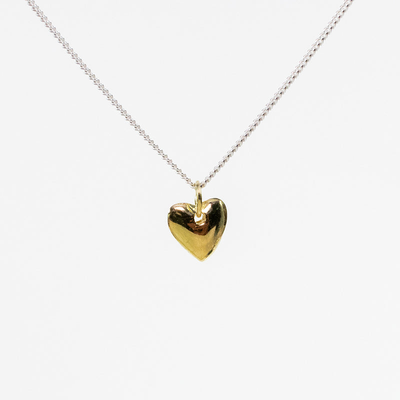 Heart Puff Gold Vermeil Necklace