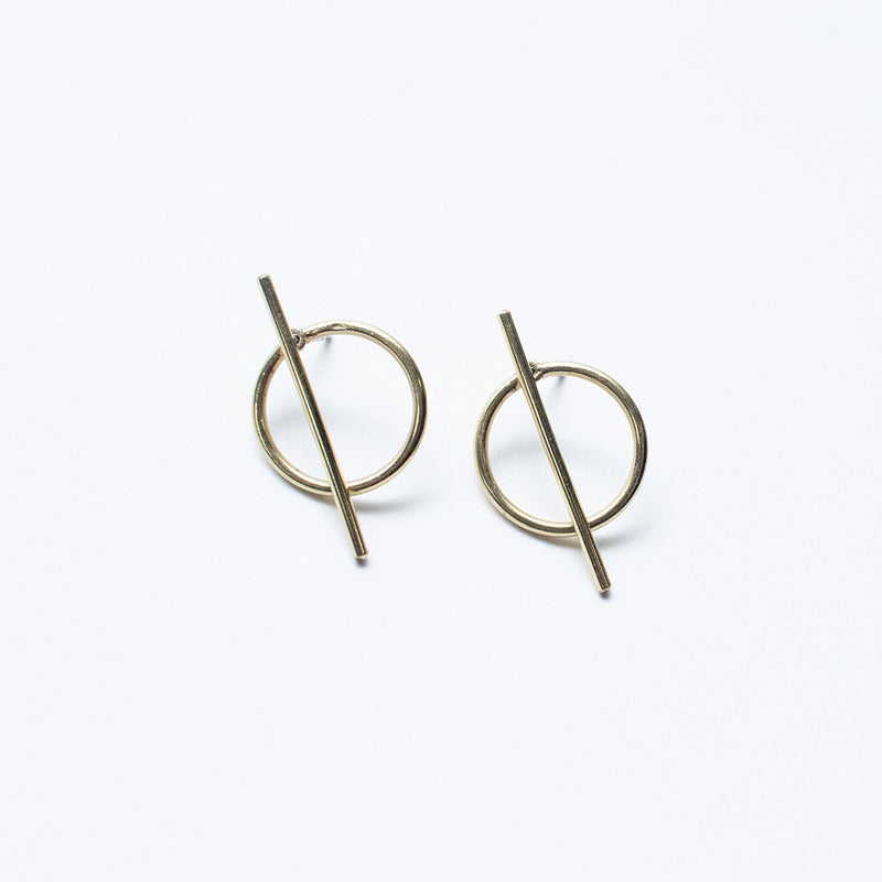 Stick and Circle Earring Jackets