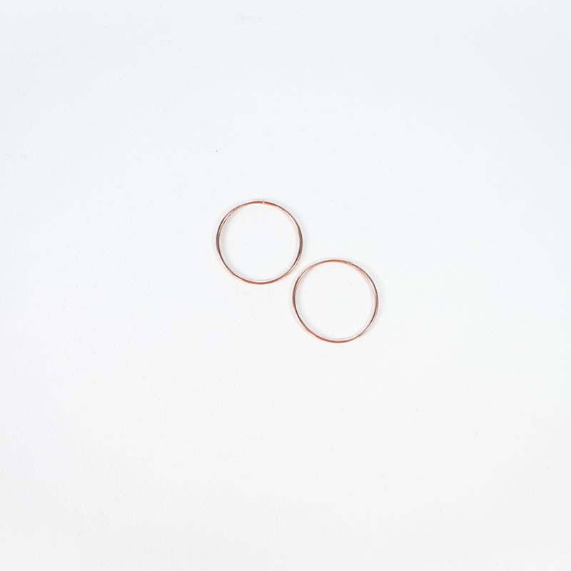 10K Rose Gold Hoops