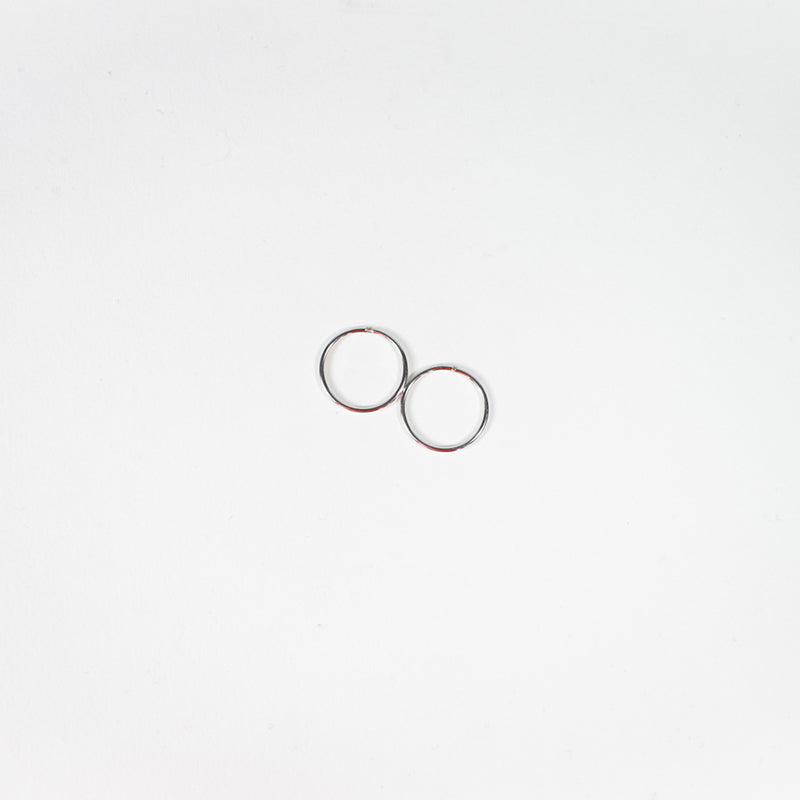 10K White Gold Hoops