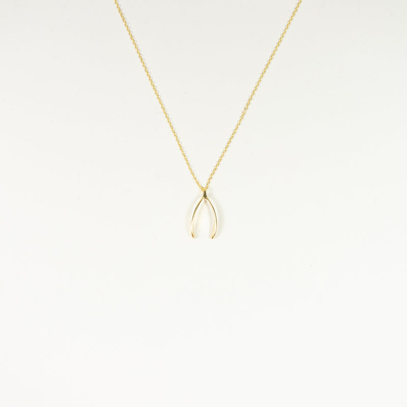 Long Wishbone Gold Vermeil Necklace