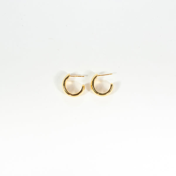 Star Set Gold Vermeil Hoops