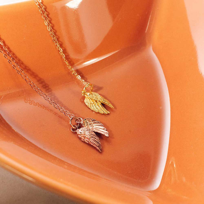 Double Wing Gold Vermeil Necklace