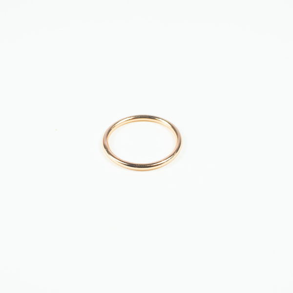Plain Stackable Rose Gold Vermeil Ring