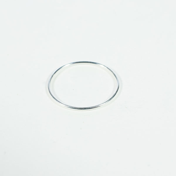 Silver Square Thin Stacking Ring