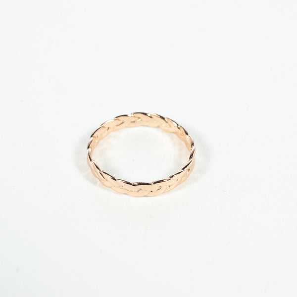 Braided Rose Gold Vermeil Ring