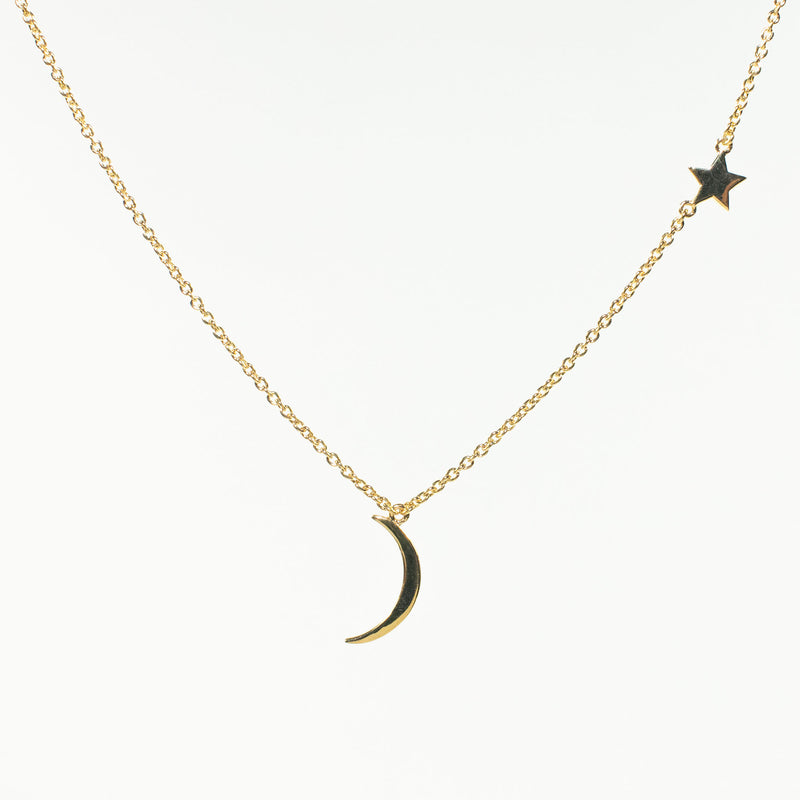 Moon & Star Gold Vermeil Necklace