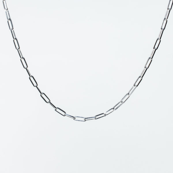 Paperclip Silver Chain