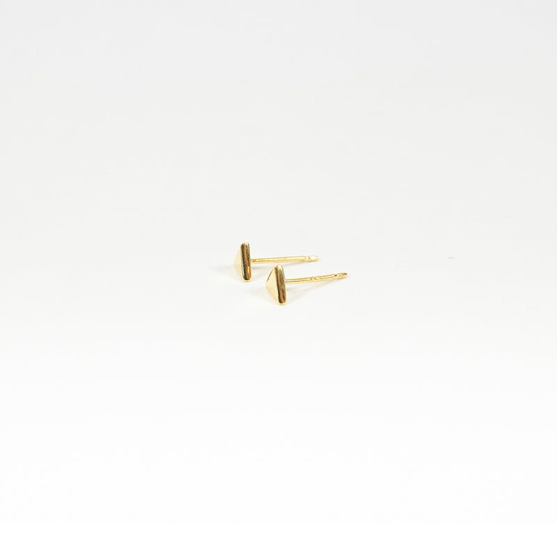 Triangle Gold Vermeil Studs