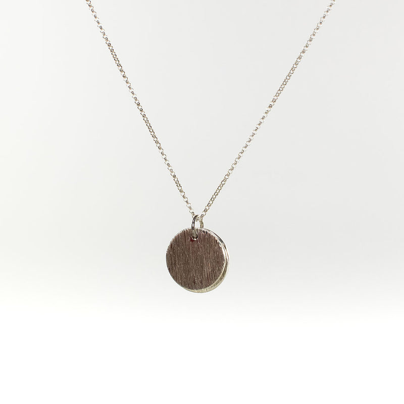 Zoey Triple Round Silver Necklace