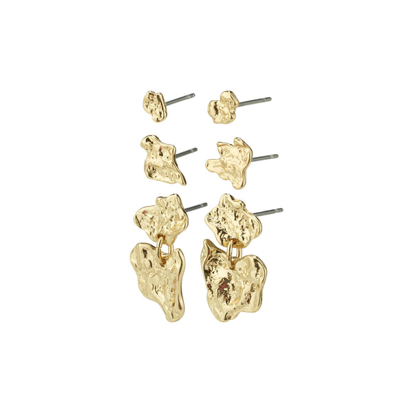 Horizon Gold Plated Earring Set