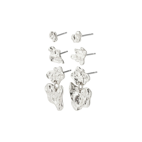 Horizon Silver Plated Earring Set
