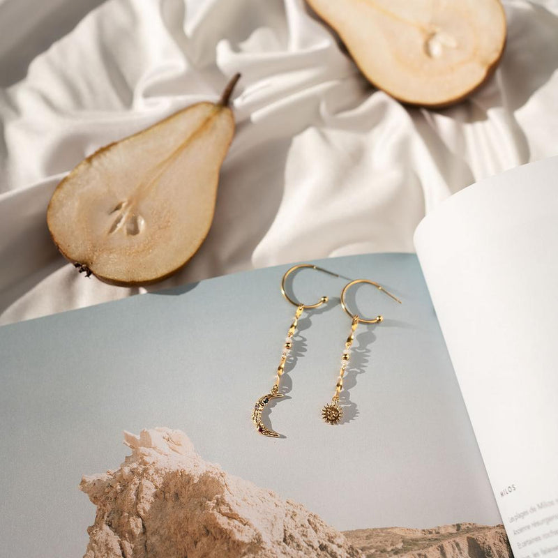 Minuit Gold Plated Earrings