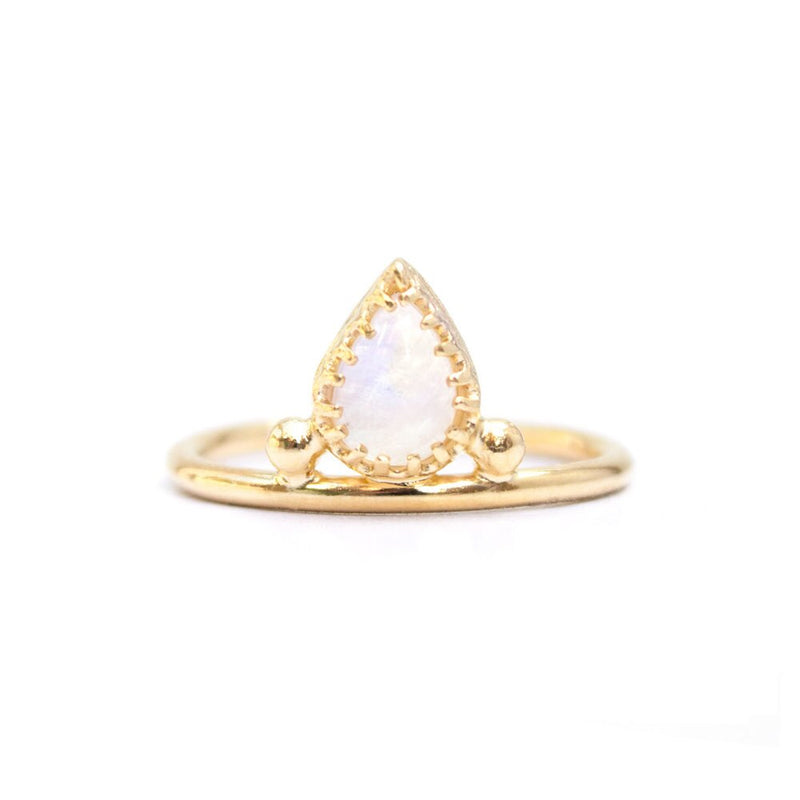 Pera Moonstone Gold Vermeil Ring