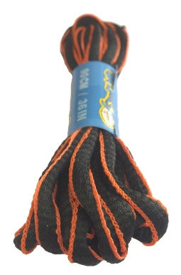 Black and Orange Oval Running Shoe Shoelaces