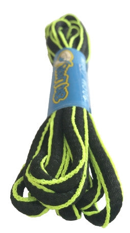 Black and Neon Yellow Oval Running Shoe Shoelaces