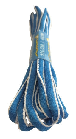 Electric Blue and White Oval Running Shoe Shoelaces